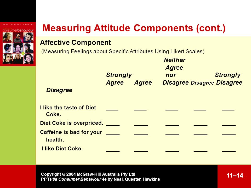 Measuring Attitude Components (cont.)