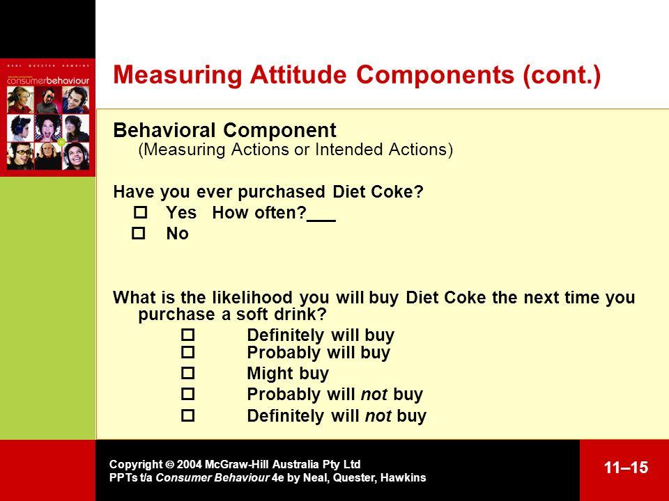 Measuring Attitude Components (cont.)