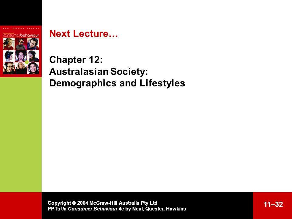 Chapter 12: Australasian Society: Demographics and Lifestyles