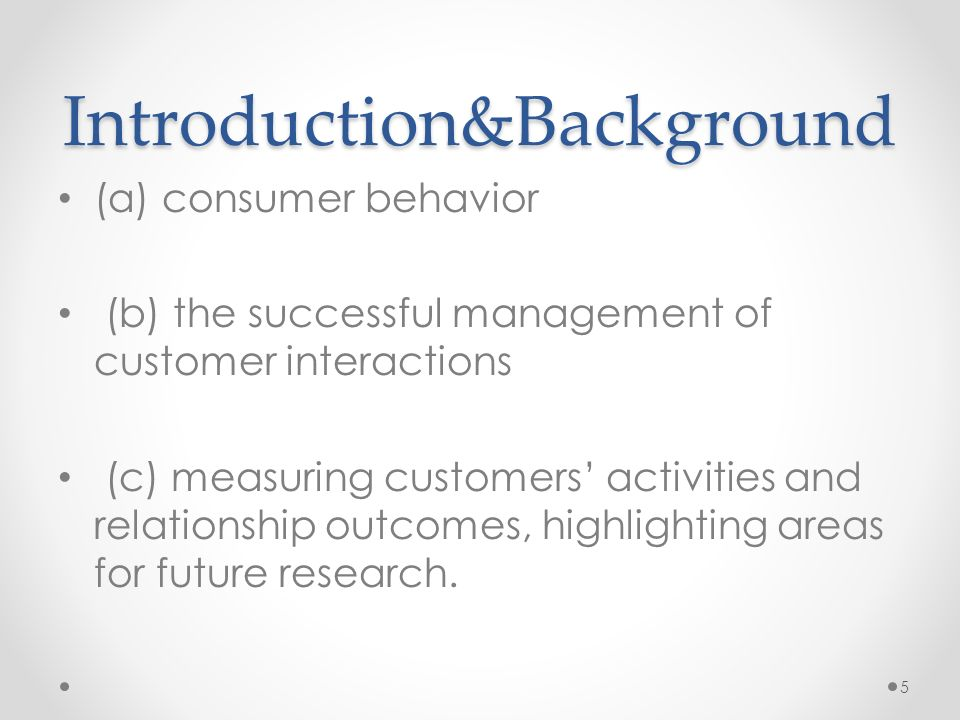 consumer behavior and customer relationship management