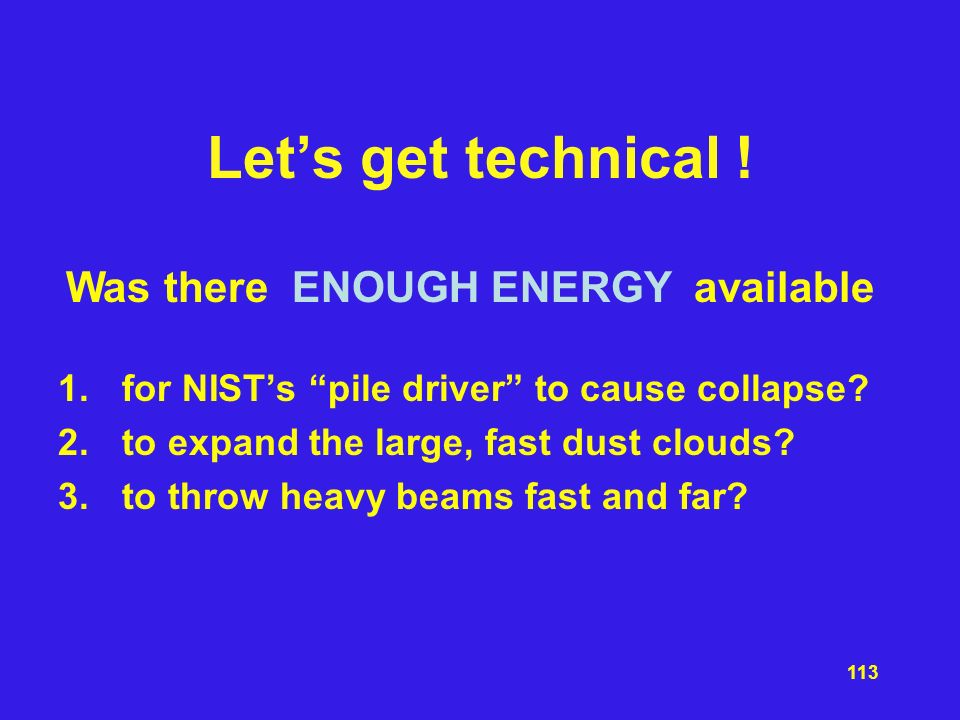Let's get technical ! Was there ENOUGH ENERGY available