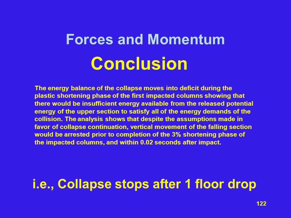 i.e., Collapse stops after 1 floor drop