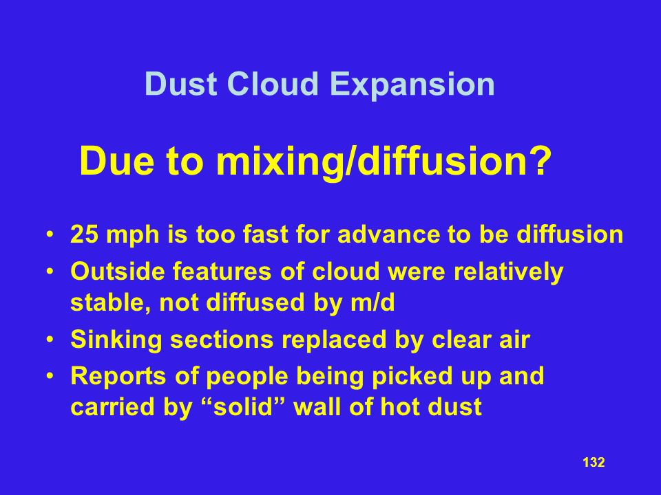 Due to mixing/diffusion