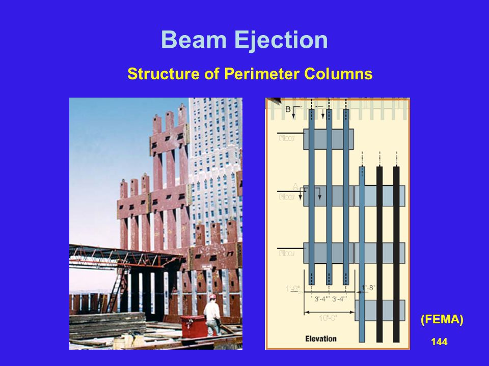 Beam Ejection Structure of Perimeter Columns (FEMA)