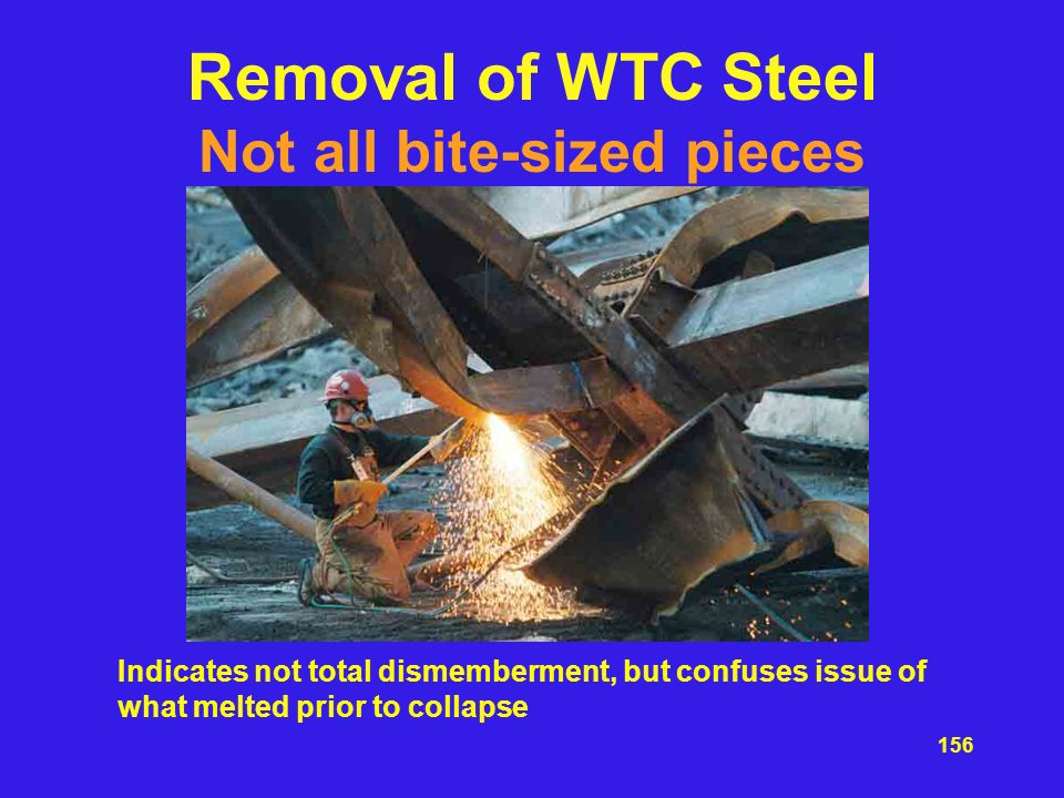 Removal of WTC Steel Not all bite-sized pieces