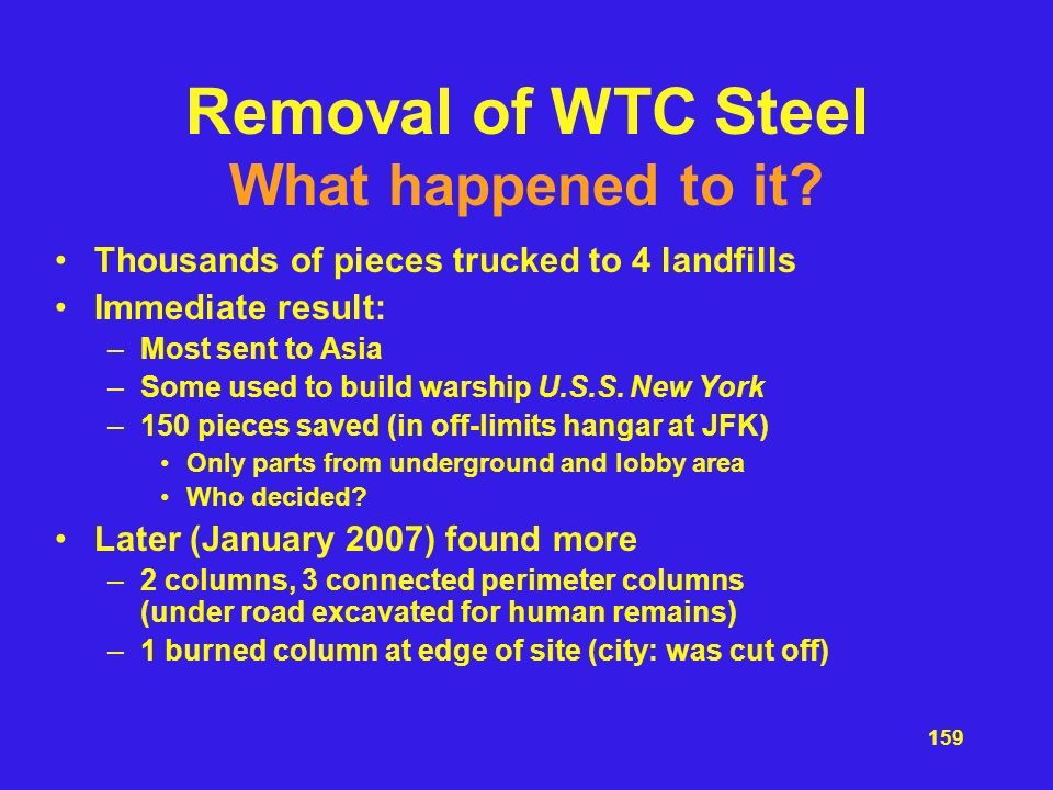Removal of WTC Steel What happened to it