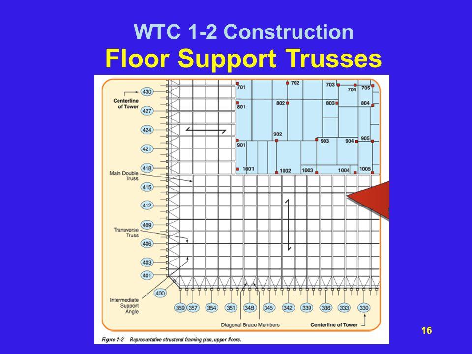 WTC 1-2 Construction Floor Support Trusses