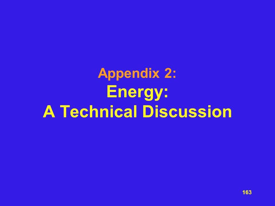 Appendix 2: Energy: A Technical Discussion