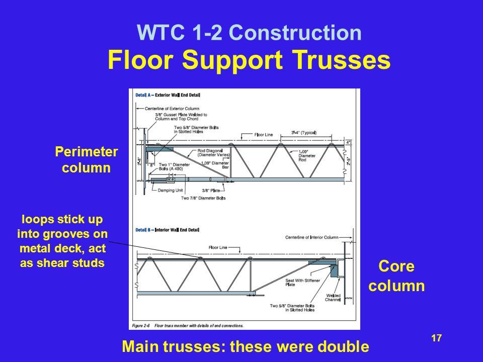 Floor Support Trusses WTC 1-2 Construction Core column