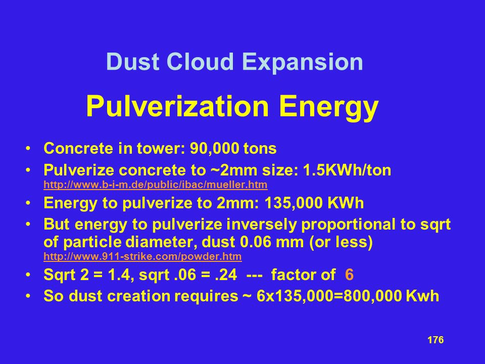 Pulverization Energy Dust Cloud Expansion