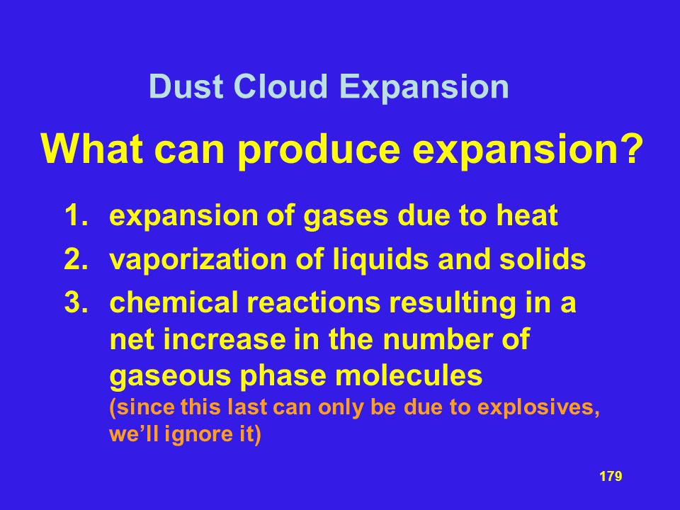 What can produce expansion