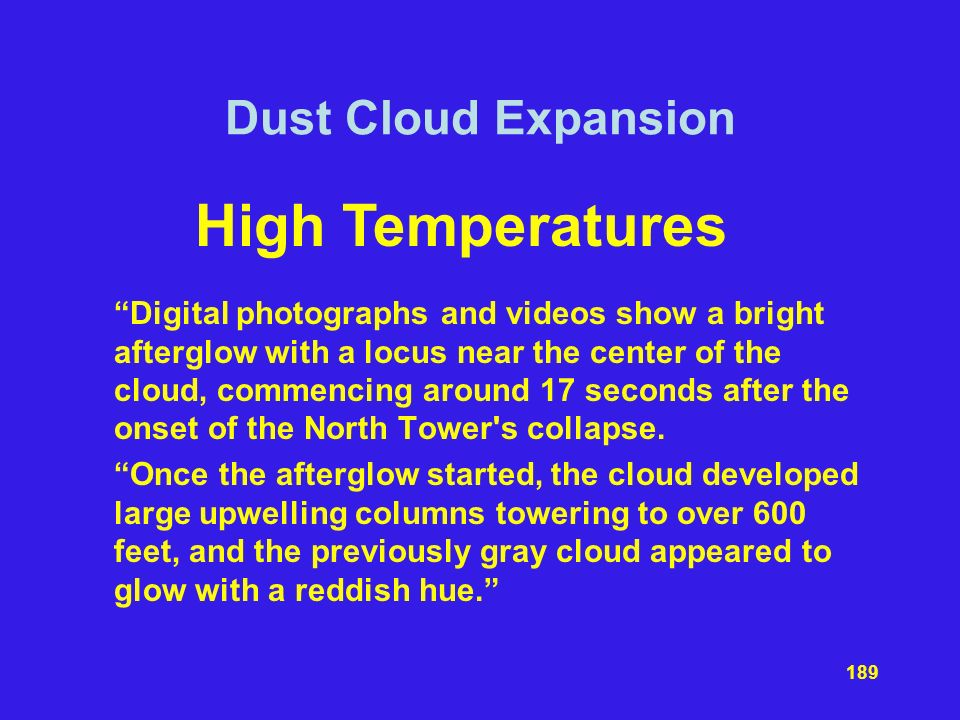 High Temperatures Dust Cloud Expansion