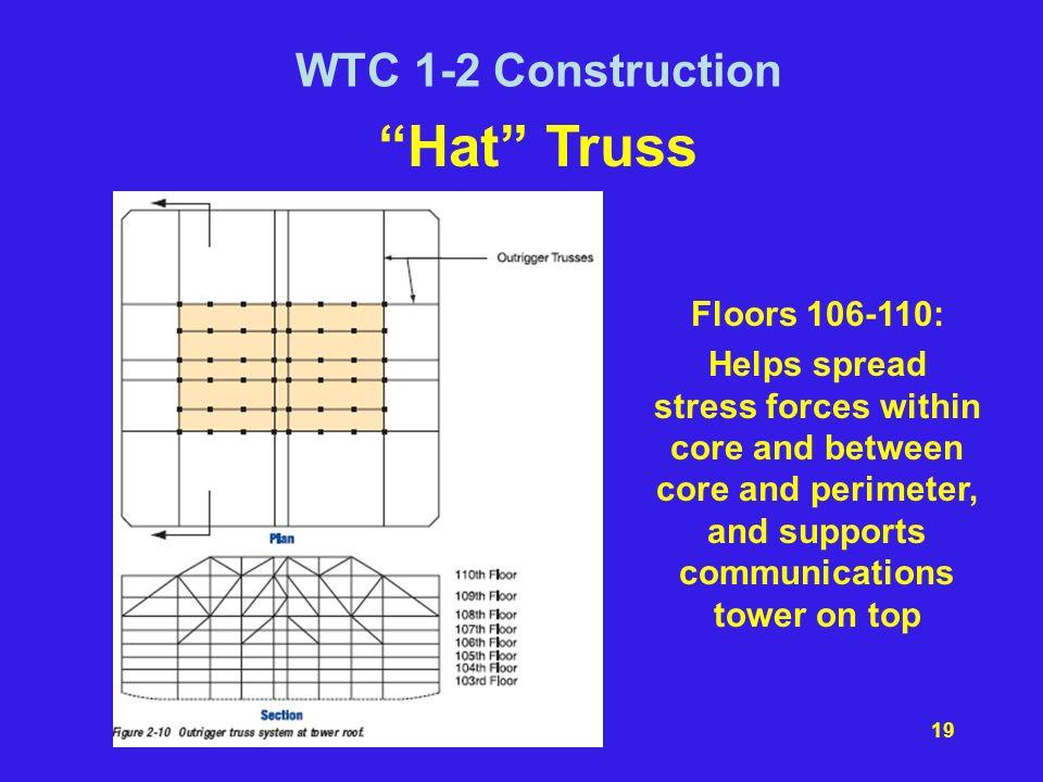 Hat Truss WTC 1-2 Construction Floors 106-110: