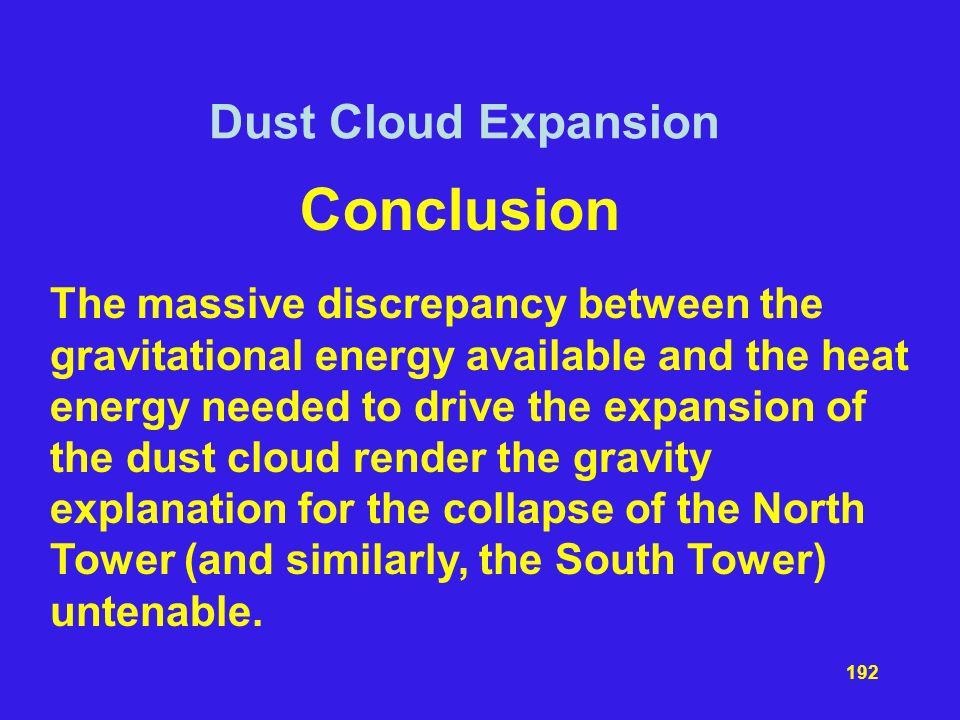 Conclusion Dust Cloud Expansion