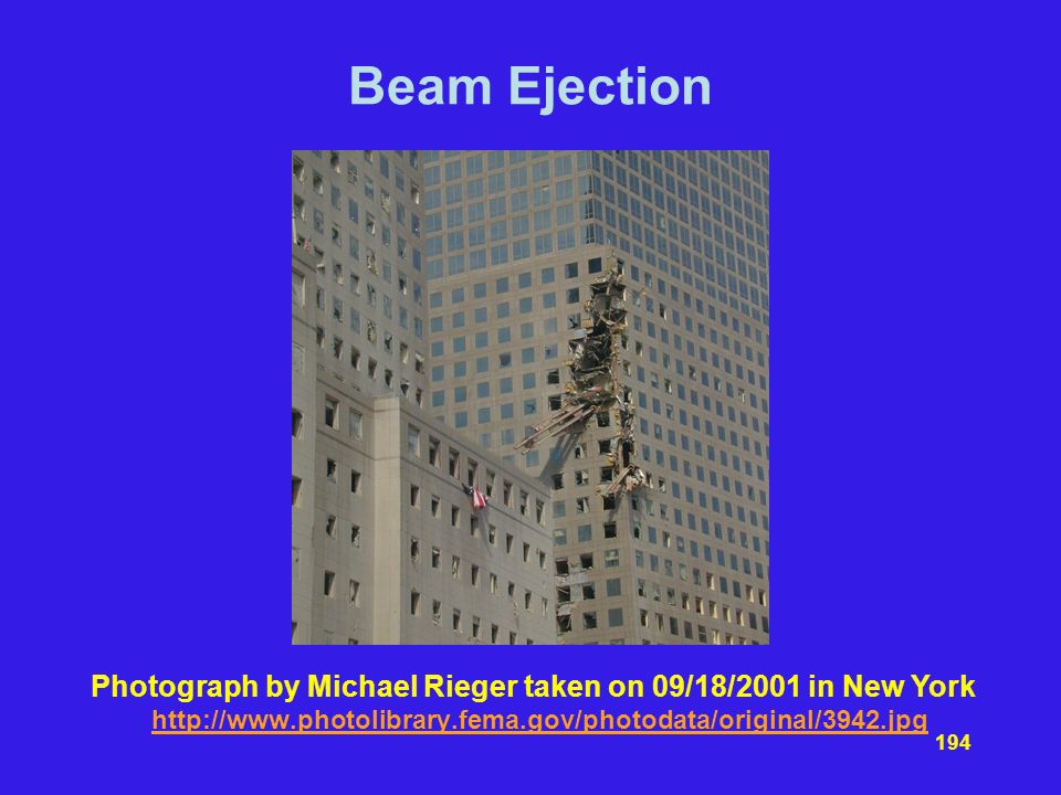 Beam Ejection Photograph by Michael Rieger taken on 09/18/2001 in New York.