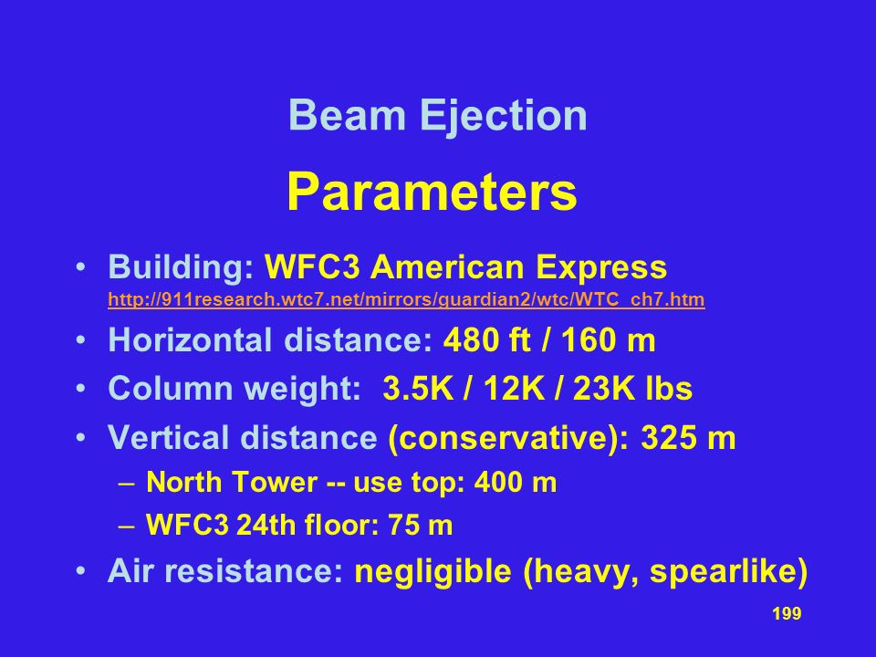 Parameters Beam Ejection
