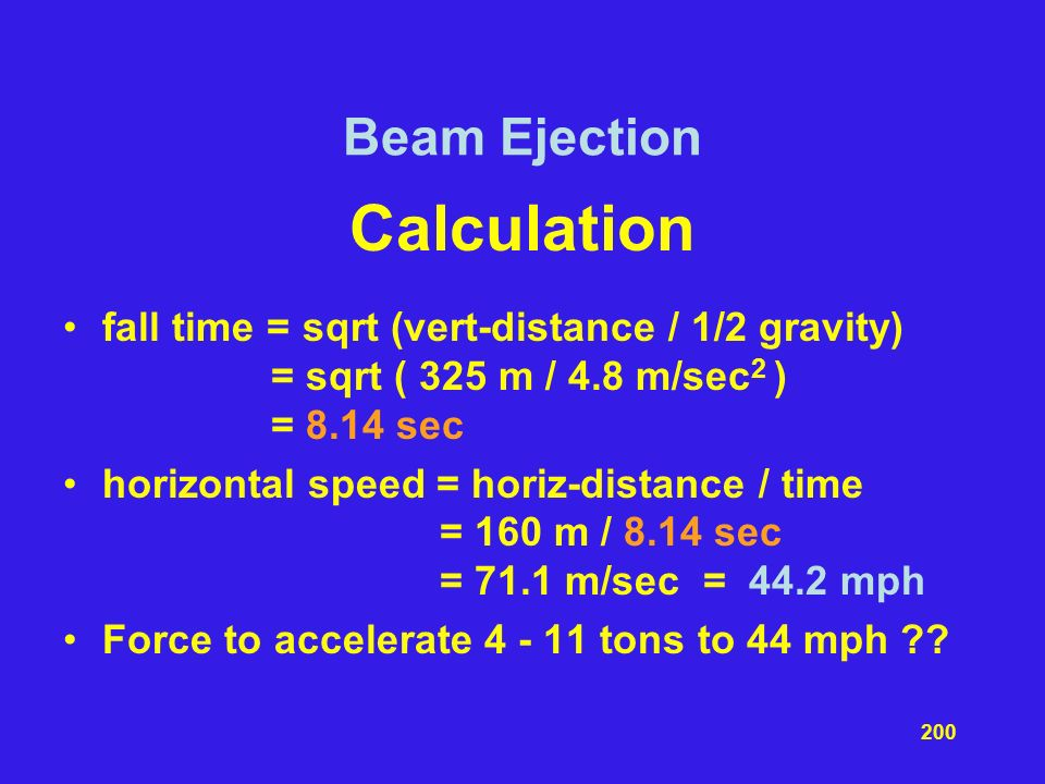 Calculation Beam Ejection