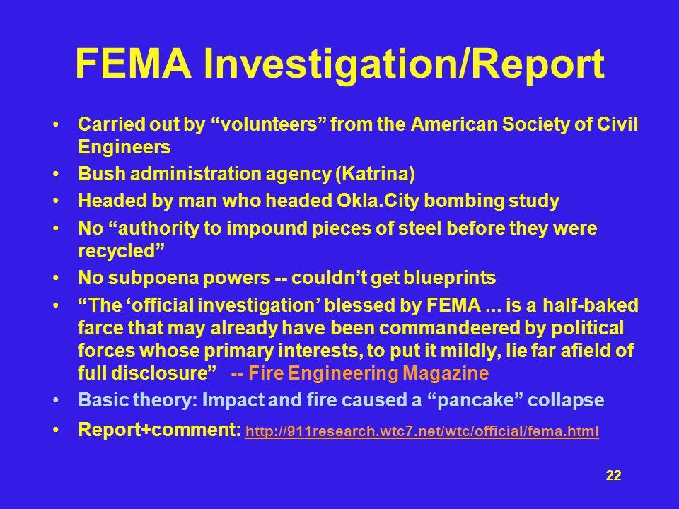 FEMA Investigation/Report