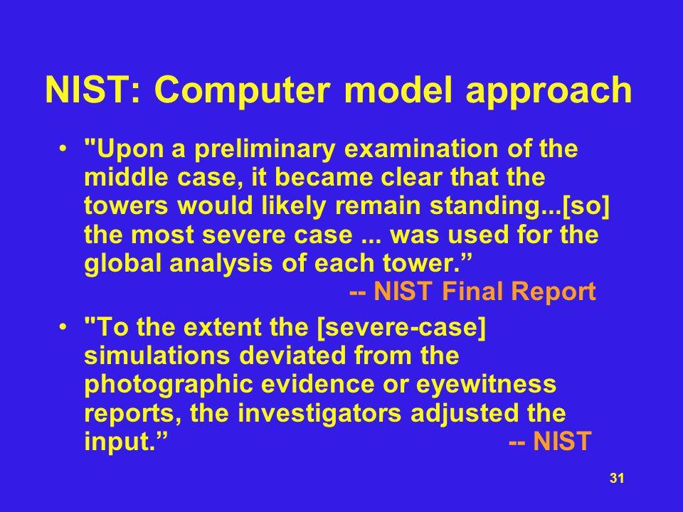 NIST: Computer model approach