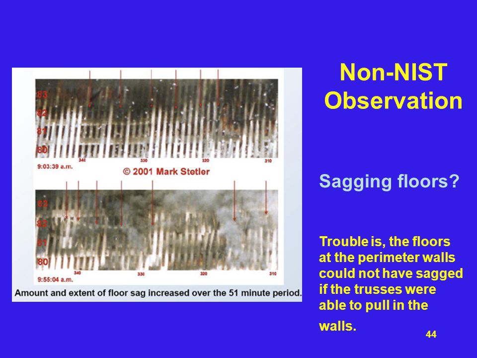 Non-NIST Observation Sagging floors