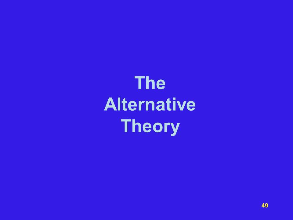 The Alternative Theory