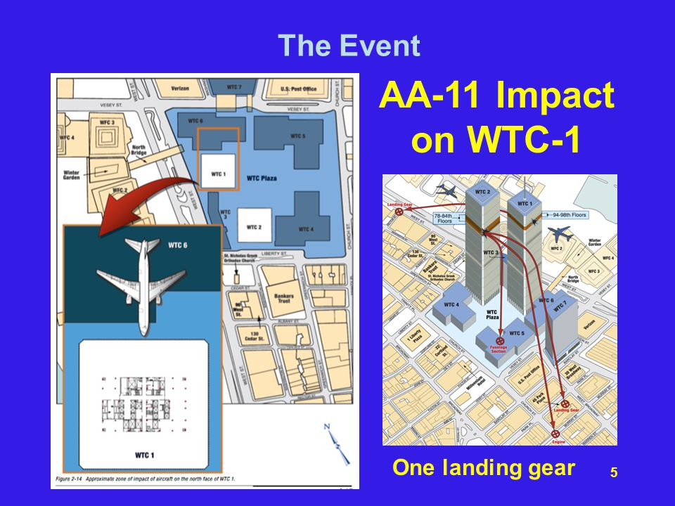 The Event AA-11 Impact on WTC-1 One landing gear