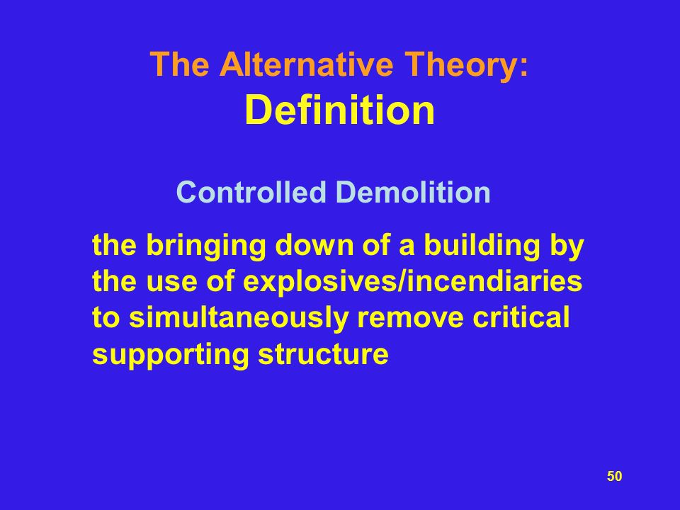 The Alternative Theory: Definition