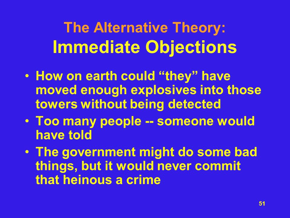 The Alternative Theory: Immediate Objections