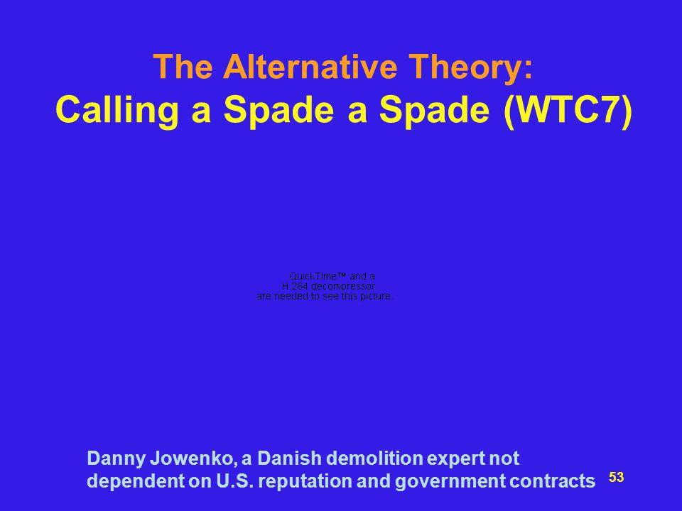 The Alternative Theory: Calling a Spade a Spade (WTC7)