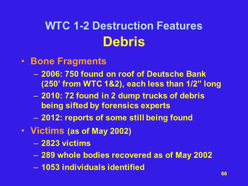 WTC 1-2 Destruction Features Debris