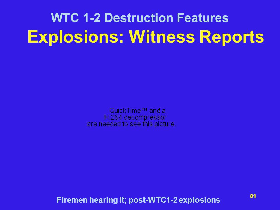 Explosions: Witness Reports