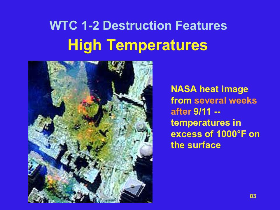 High Temperatures WTC 1-2 Destruction Features