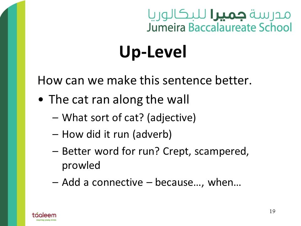 how to make a sentence sound better