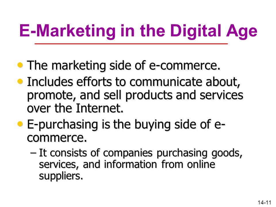 E-Marketing in the Digital Age