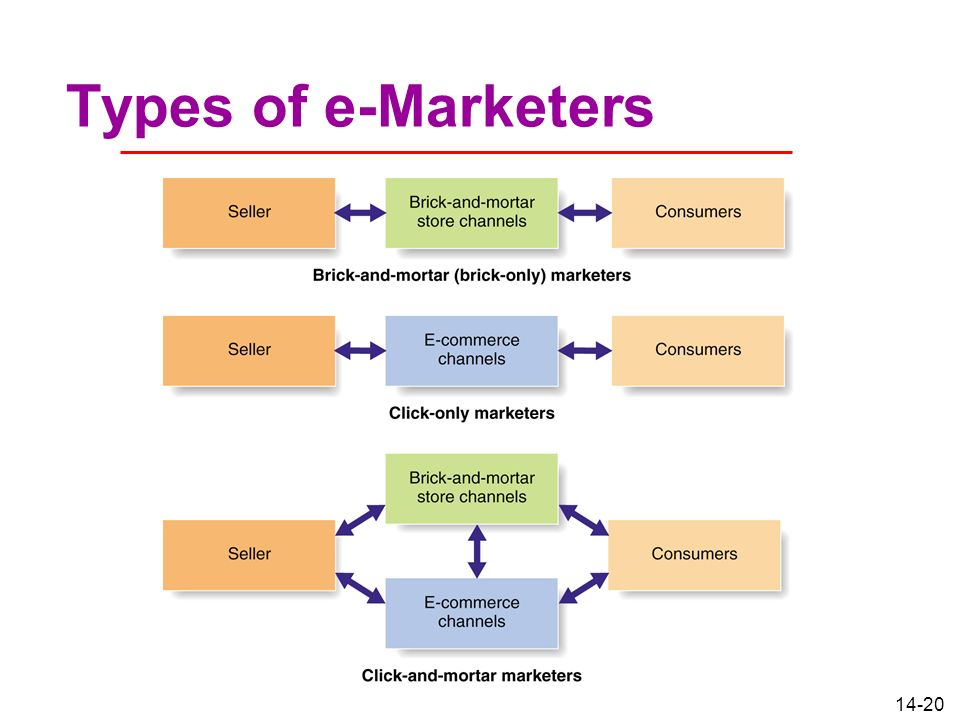Types of e-Marketers