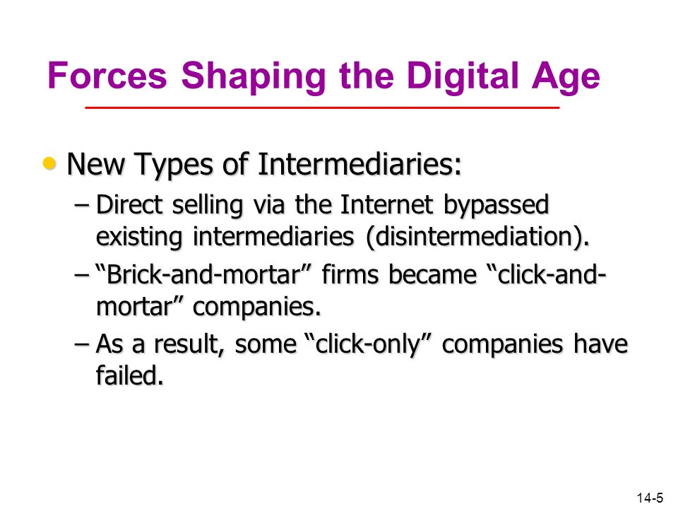 Forces Shaping the Digital Age