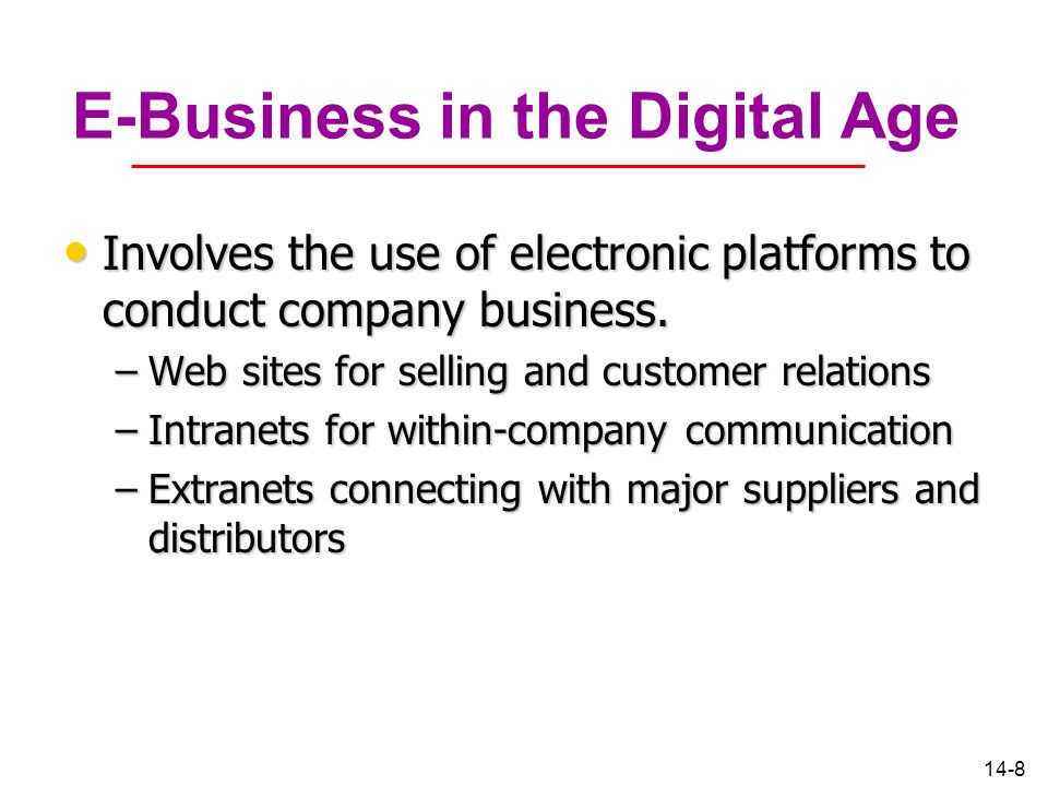 E-Business in the Digital Age