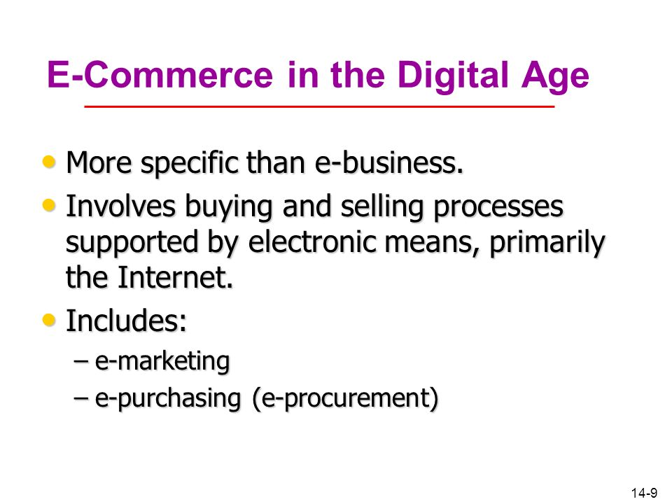 E-Commerce in the Digital Age