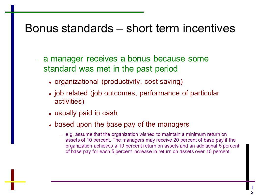 Cash bonus or stock options