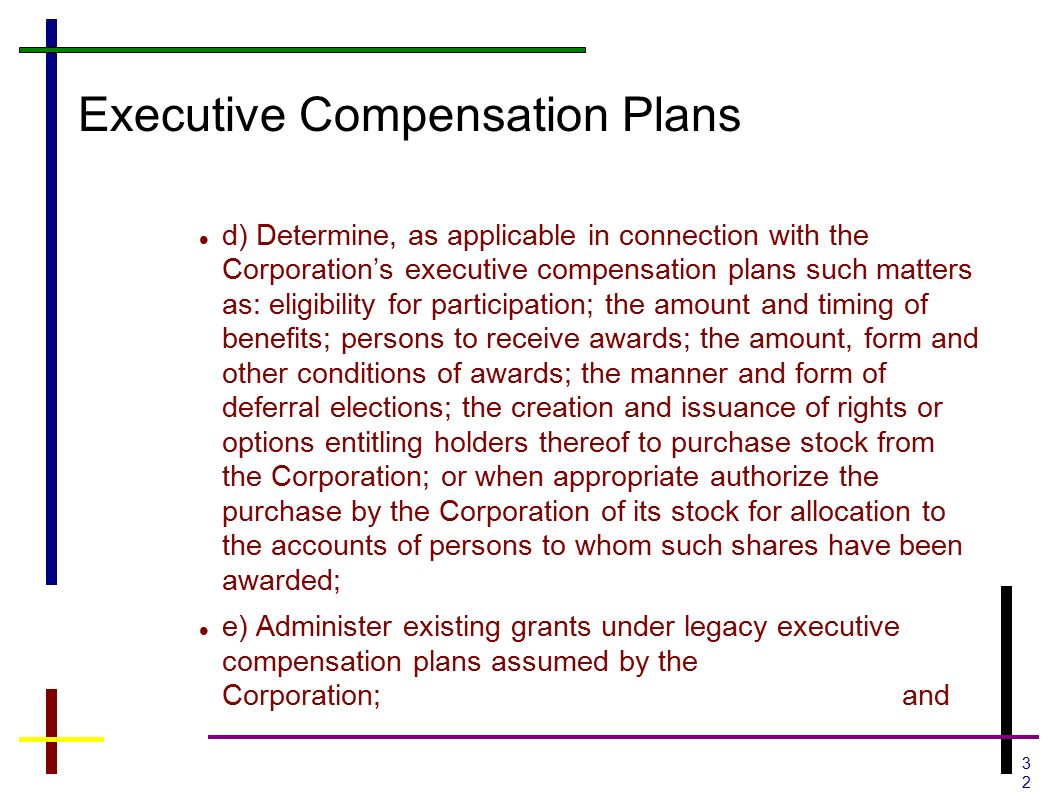 Issuance of stock options to the executives