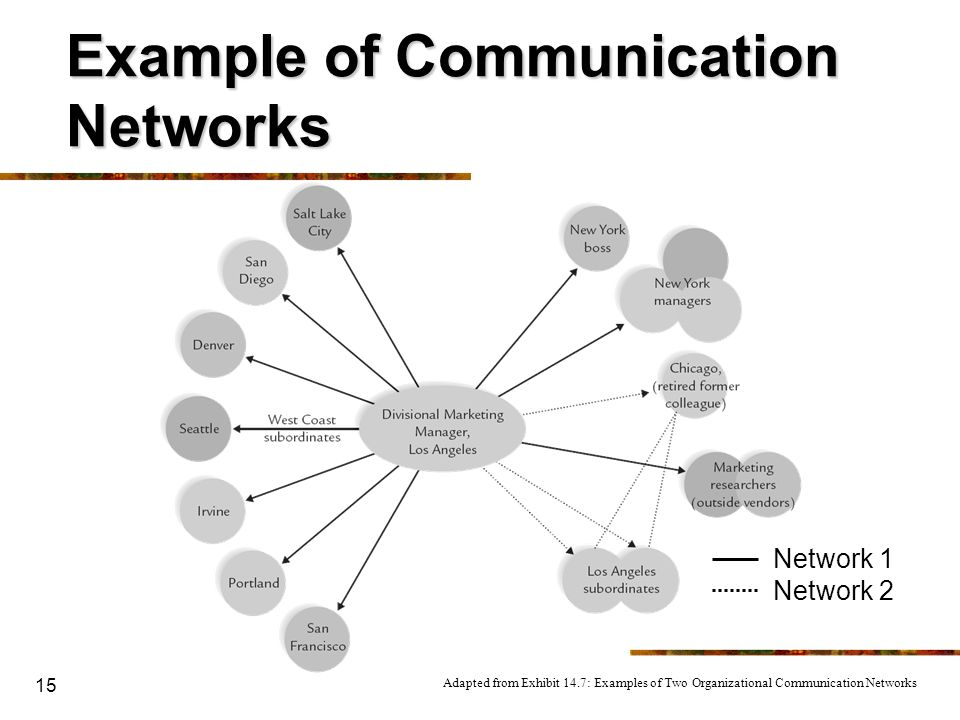 Example of Communication Networks