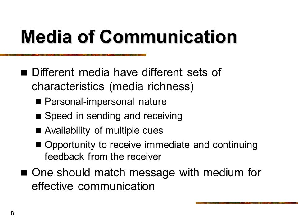 Media of Communication