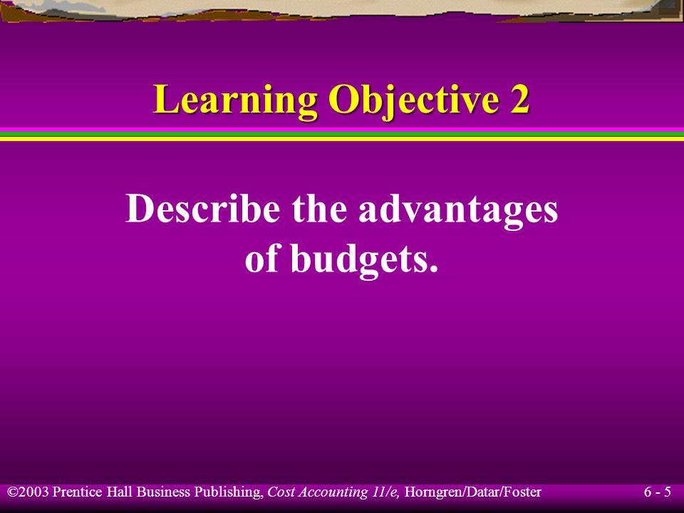 Describe the advantages