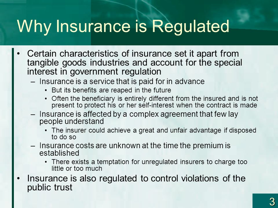 Why Insurance is Regulated