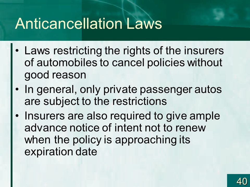 Anticancellation Laws