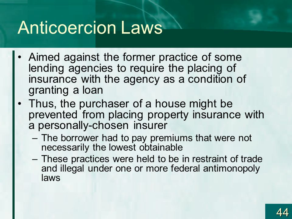Anticoercion Laws