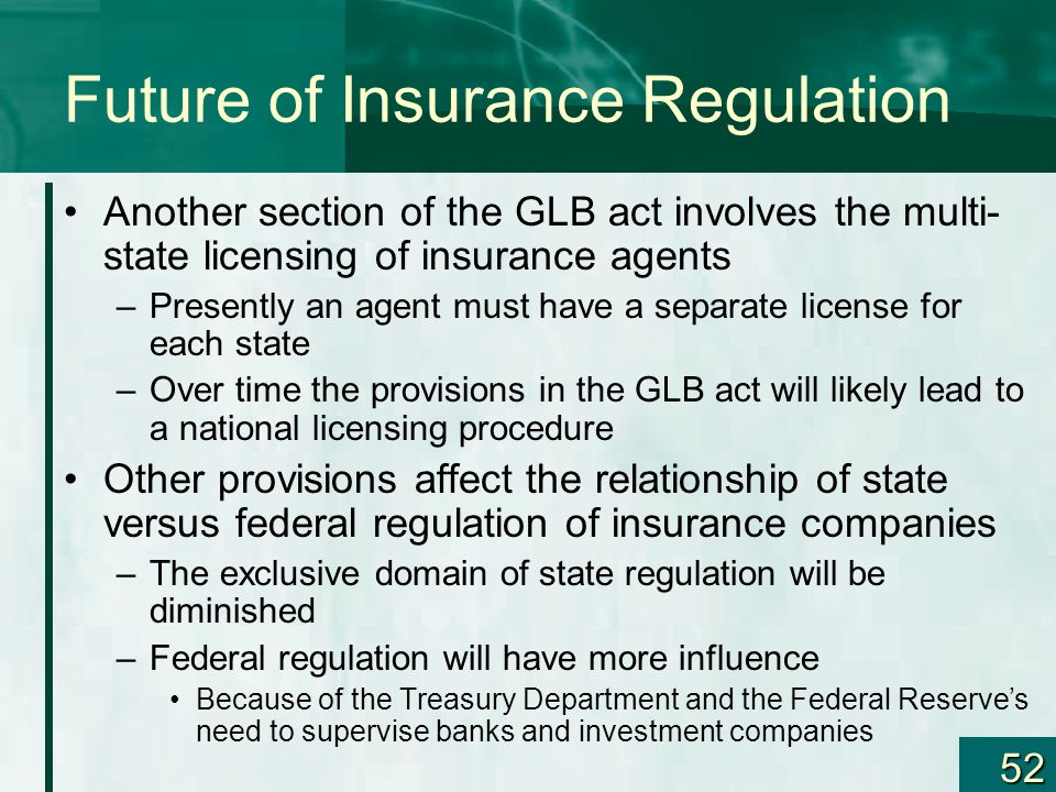 Future of Insurance Regulation