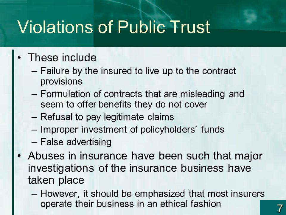 Violations of Public Trust