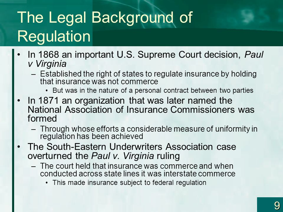 The Legal Background of Regulation