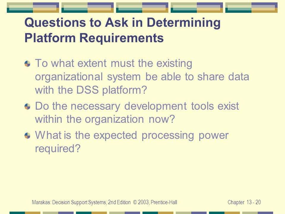 Questions to Ask in Determining Platform Requirements